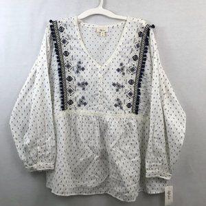 Style & Co Boho Long Sleeve Top